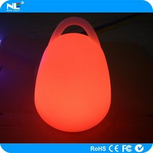 Hot new product rechargeable LED plastic portable dercorative lantern light