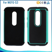 Wholesale Popular PC + Silicone+TPU Combo football skin Cover Case for Motorola Moto G3 hybird case