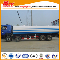 8X4 used water tank truck for sale Shacman water transportation truck 380hp left hand drive watering cart