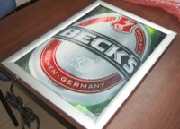 Edge Light arc-sharp frame, super thin light box , advertising menu box