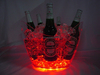 Christmas decoration LED ice bucket lighted portable beer bottle cooler