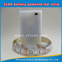 IP68 12v smd 5050 rgb waterproof battery powered led strip light for the outdoor