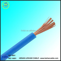 hot selling quality pvc insulated solid copper conductor 6mm electrical wire cable for sale