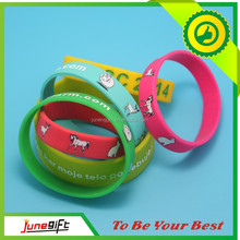 Colorful print customized sport&comfortable silicone wristbands