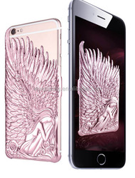 Fashion Angel Wings Electroplate Love Crazy Case Cover for iPhone 6 and plus