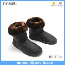 Suela de goma cómodo mujeres botas de nieve