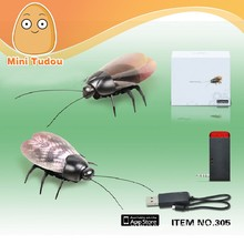 Infrared remote control fluorescence beetle toy