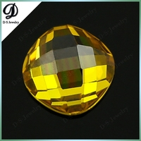 korean machine cut high quality faceted cubic zirconia for sale, checkboard cut perfect faceted cushion cut cubic zirconia gemst