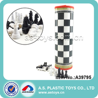 Outdoor educational 2 players plastic giant chess set for kids