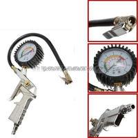 Car Truck Tire Tyre Air Inflator Dial Pump Hose Pressure Gauge Compressor 220PSI