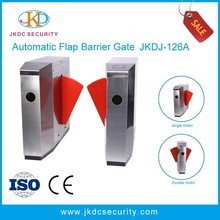 304 Stainless Steel Pedestrian Sliding Turnstile Gate , high speed automatic flap barrier
