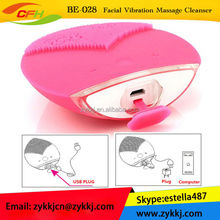 2015 new products waterproof rechargeable vibration facial massage device