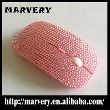 Wholesale colorful fashion slim design diamond wireless mouse/diamond gift wireless mouse