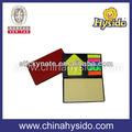 cubierta de la pu reciclado personalizada pegajosa bloc de notas con el calendario para la promoción