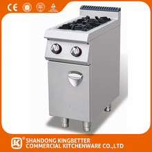 New style Europen Stainless steel gas cooking range design with cabinet