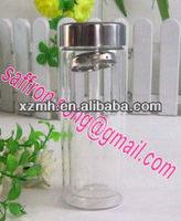 450ml Heat resistance double wall water glass bottle