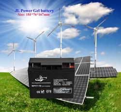 Guangzhou JL Top quality maintenance free 12v17ah GEL lead acid battery, solar system/ups system.