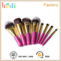 free sample professional brush 8 pcs makeup brush kits shot wood handle