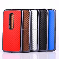 Fiber carbon cover case for Moto G3, for Moto G3 mobile phone case