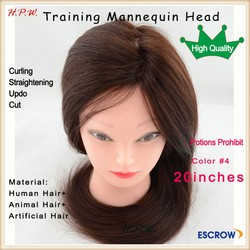 Wholesale Female Hairdresser training head mannequin doll head with wig
