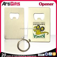 Promotional metal gold metal key holder beer bottle opener