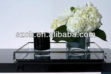 China acrylic transparent amenity customized serving tray