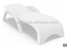 miami de resina de mimbre chaise lounge blanco set