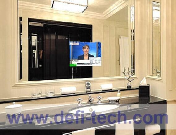 Mirror tv glass magic advertising display mirror for Mirror screen