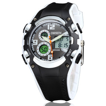 new arrival quality guranteed OHSEN sports watches, 30M deep water proof, dual quartz digital movement