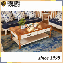 Guangzhou furniture living room coffee table oval solid wood tea/side table HK003