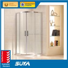 2015 SUYA-0724 bathroom glass door 2 fixed 2 sliding shower room