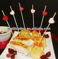 Hot Selling Mixture Colors Decoration Bamboo Ball Picks
