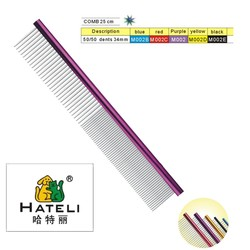Stainless steel clean in-line pet grooming combs dog comb Pet comb clean and beauty Long hair pet is special