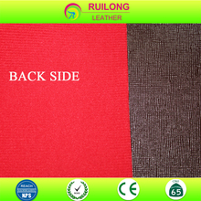 Hot sale PVC leather synthetic leather for SOFA with colorful backing