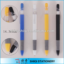 Colorful barrel with gray grip click ball pen promotion