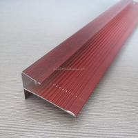 stair nosing and anti slip aluminum tile trim profile