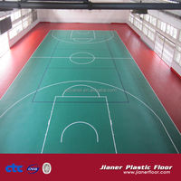 Indoor Wood Basketball Court Vinyl Flooring