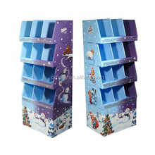 colorful pop cardboard display shelf fancy swing display stand