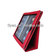 best seller! fashion design red Folio Book Shell Stand trifolding pu leather case Cover for Apple New iPad 2/3/4 9.7 Inch