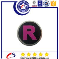 Round cover metal logo plates with custom design