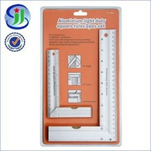 Aluminium light duty square ruler 2pcs set Tailor Square Ruler Value Pack