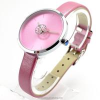 China Best Sale Japan Movt Wrist Quartz Stainless Steel Back Fashion Vogue Watch Rose PU leather Wrist Lady Watch