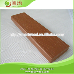 best selling rubber wood finger joint board and composite wpc outdoor decking