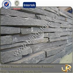 Striped black slate house stone siding