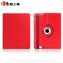 Unique design for iPad 2/3/4 factory wholesale flip leather mini case full protective pink/green/blue customize