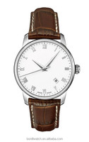 Leather fashion watches copper watches for men