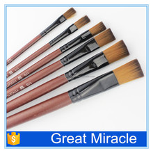 New 6 Pcs artist paint brushes set Assorted Size Painting Oil Acrylic Water Tool Educational Stationery drawing pen