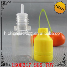 direct from factory PET nicotine e-cig oil bottle with different volume