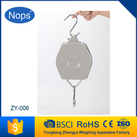 Hand held weighing scale mechanical hook balance