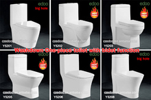 Chaozhou Factory Sell well Dual Flush S-trap:100/200/225/250/300/400mm roughing-in Washdown one piece toilet with cheap price